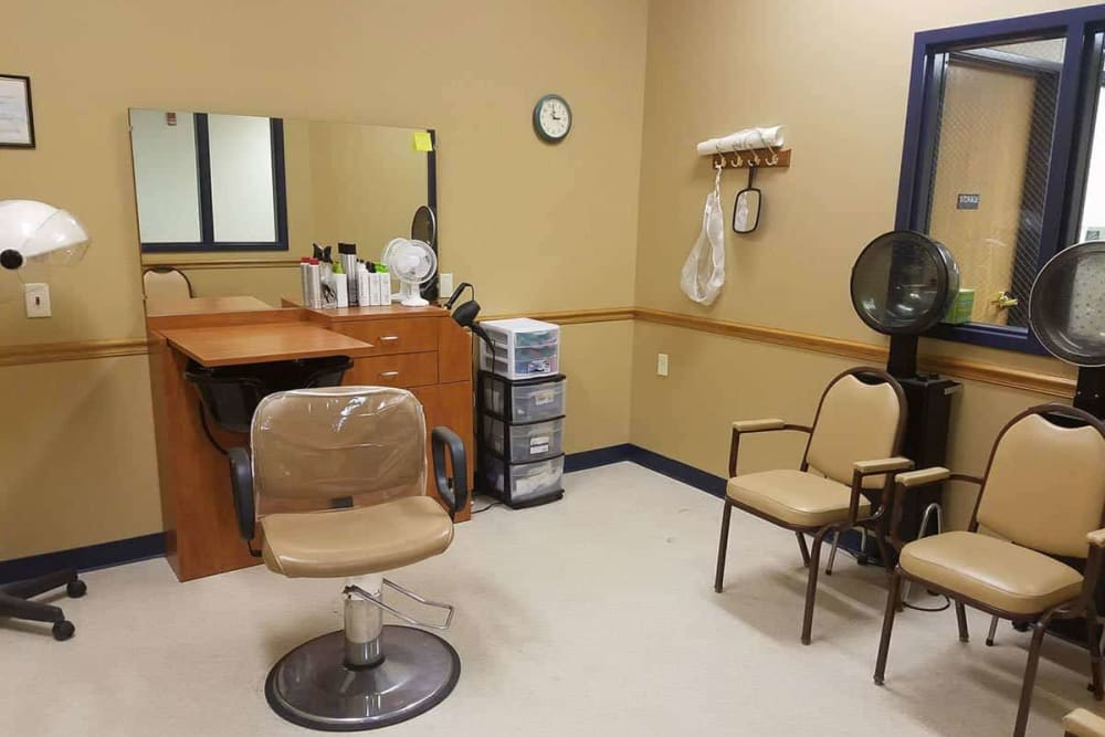 Resident hair salon at Holstein Senior Living in Holstein, Iowa.