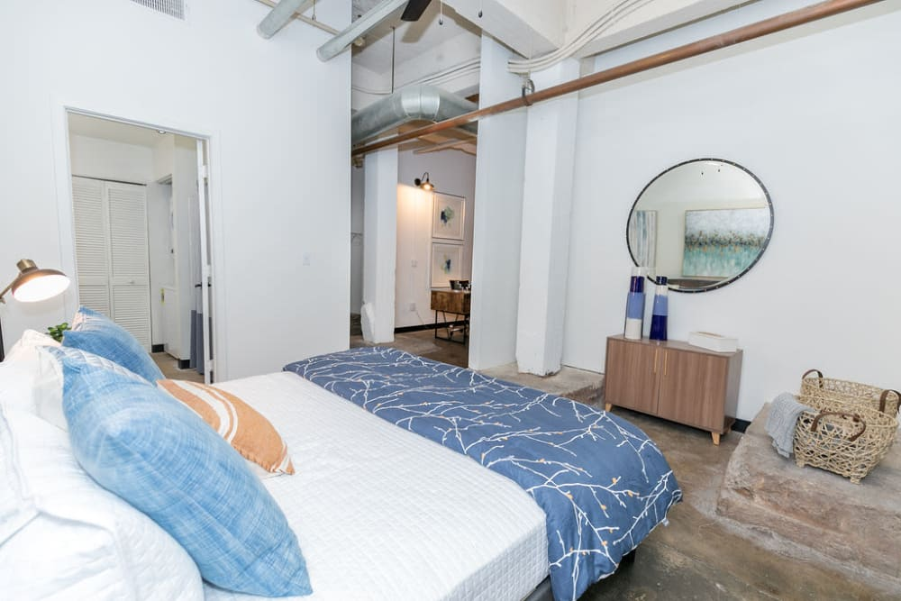 Lofts at Riverwalk offers a bedroom
