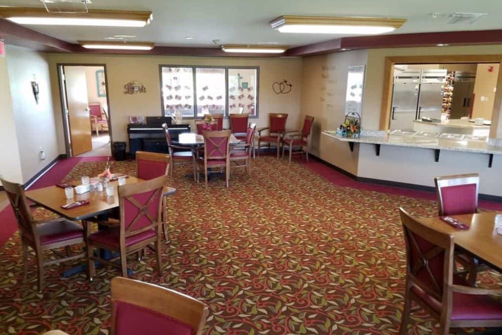 Resident dining room at Manning Senior Living in Manning, Iowa