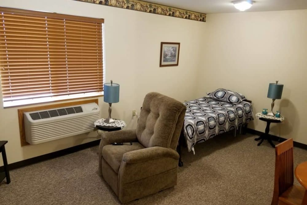 Open respite care floor plans at Manning Senior Living in Manning, Iowa.