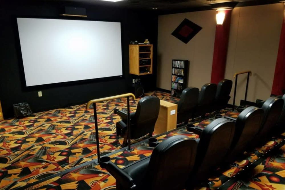 Movie theater room at Manning Senior Living in Manning, Iowa.