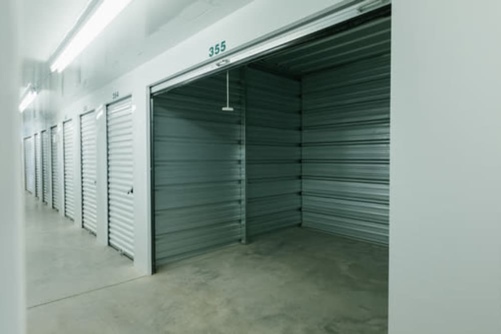 Inside of a self storage unit at StayLock Storage in Pendleton, Indiana