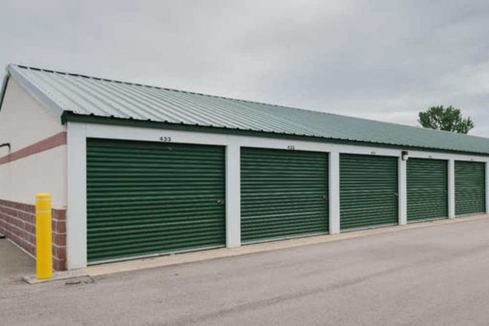 Exterior view of self storage units at StayLock Storage in Pendleton, Indiana