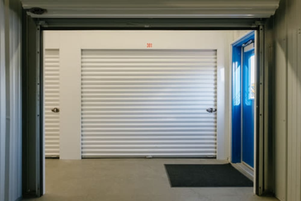Inside of a self storage unit at StayLock Storage in Frankfort, Indiana