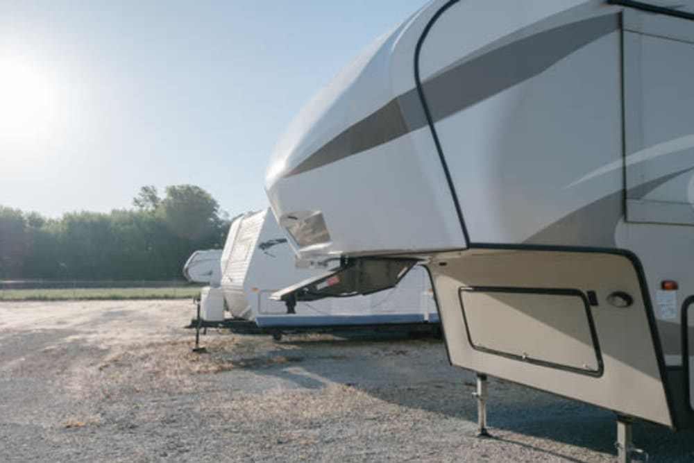 RV parking at StayLock Storage in Frankfort, Indiana
