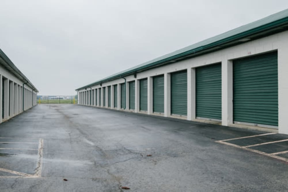 Large open driveways at StayLock Storage in Muncie, Indiana