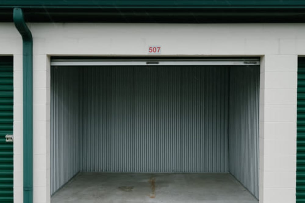 Inside of a self storage container at StayLock Storage in Muncie, Indiana