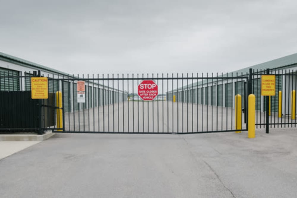 Gated entry to StayLock Storage in Shelbyville, Indiana