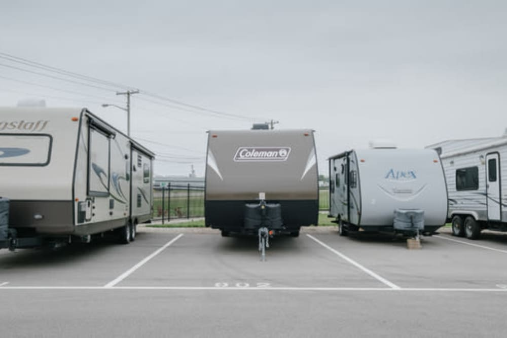 RV parking at StayLock Storage in Shelbyville, Indiana