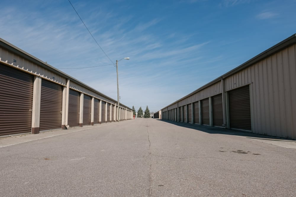 A variety of self storage units at StayLock Storage in Elkhart, Indiana
