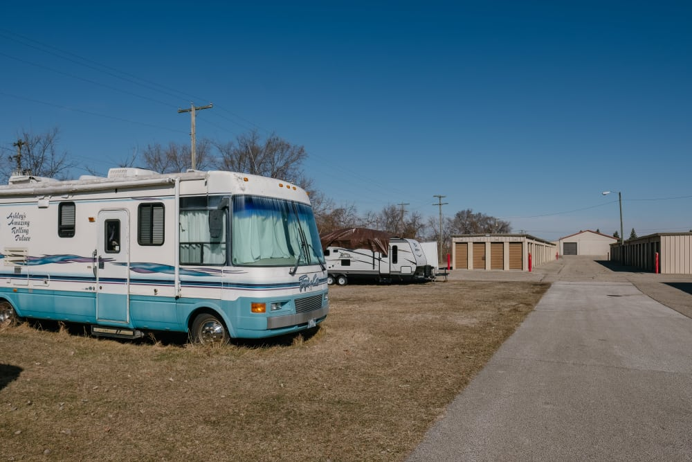 RV parking in Elkhart, Indiana at StayLock Storage