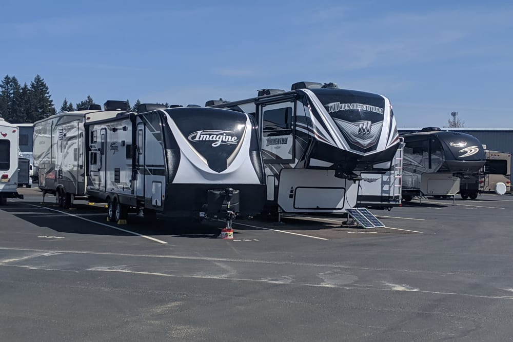 RV parking at Canby RV & Boat Storage in Canby, Oregon