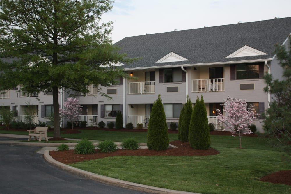 Exterior view of resident apartments at Willow Creek Senior Living in Elizabethtown, Kentucky.