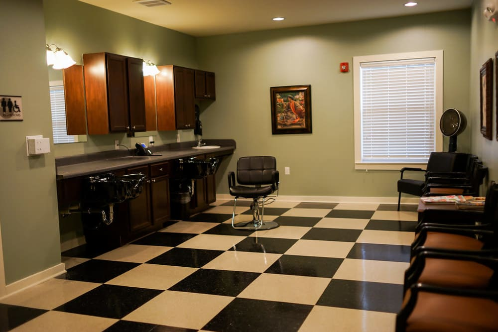 On-site Salon at The Claiborne at Hattiesburg Assisted Living in Hattiesburg, Mississippi