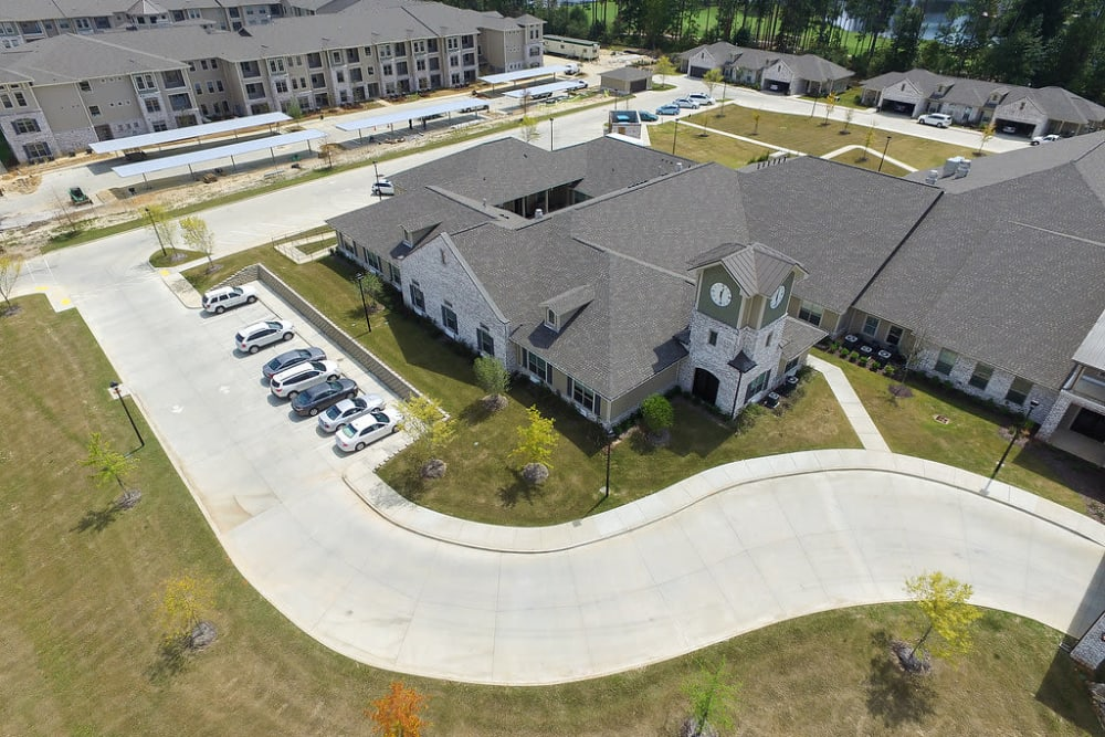 Aerial view of  The Claiborne at Hattiesburg Assisted Living in Hattiesburg, Mississippi
