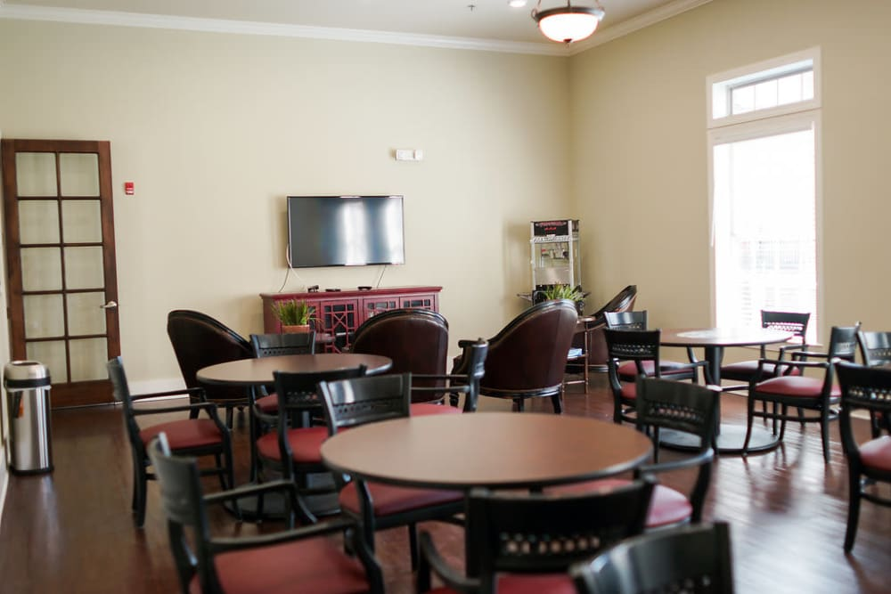Activities Room at The Claiborne at Hattiesburg Independent Living in Hattiesburg, Mississippi