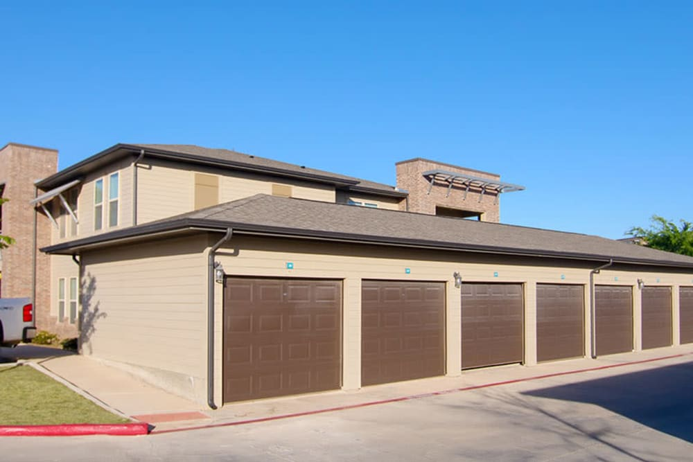 Private garages available at Anatole on Briarwood in Midland, Texas