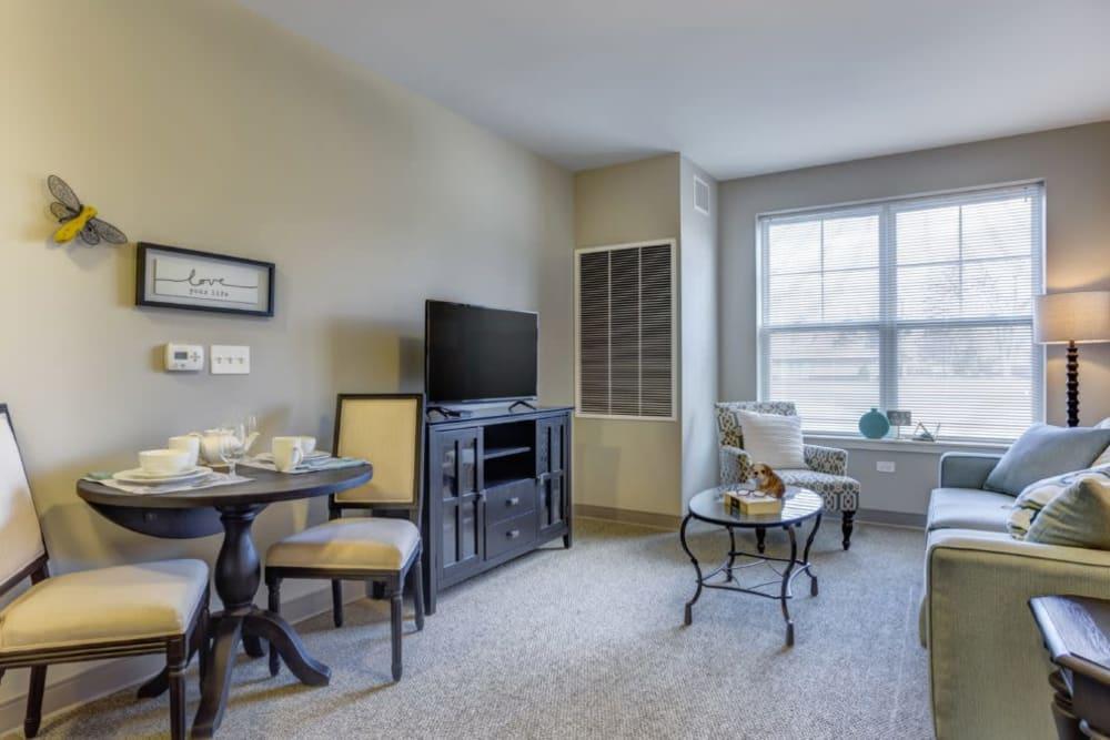 Spacious apartment at Anthology of Wheaton in Wheaton, Illinois.