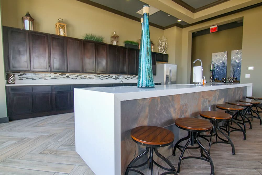 Demonstration kitchen in the clubhouse at Anatole on Briarwood in Midland, Texas