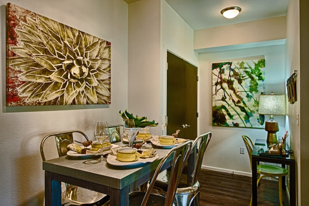 Dining nook in a model home at Cactus Forty-2 in Phoenix, Arizona