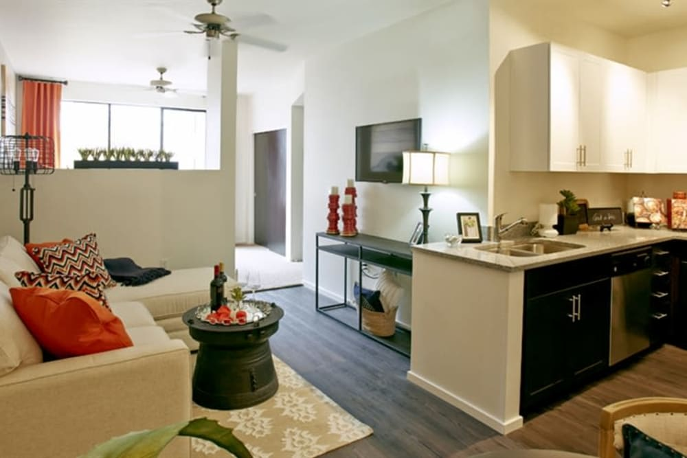 Bright and open layout in a model home at Cactus Forty-2 in Phoenix, Arizona