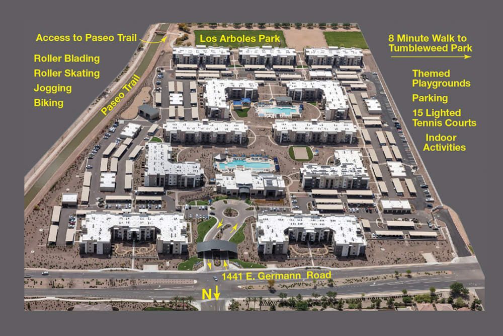Community Map of Sky at Chandler Airpark in Chandler, Arizona