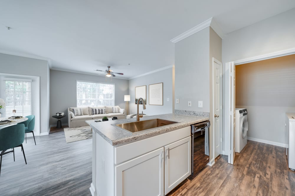 One Bedroom kitchen at Preston View in Morrisville, North Carolina