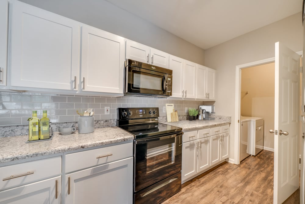 Bright kitchen at Preston View in Morrisville, North Carolina