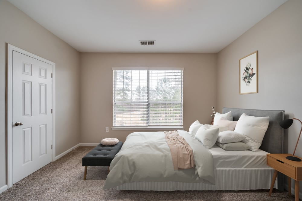 One Bedroom master bedroom at Preston View in Morrisville, North Carolina