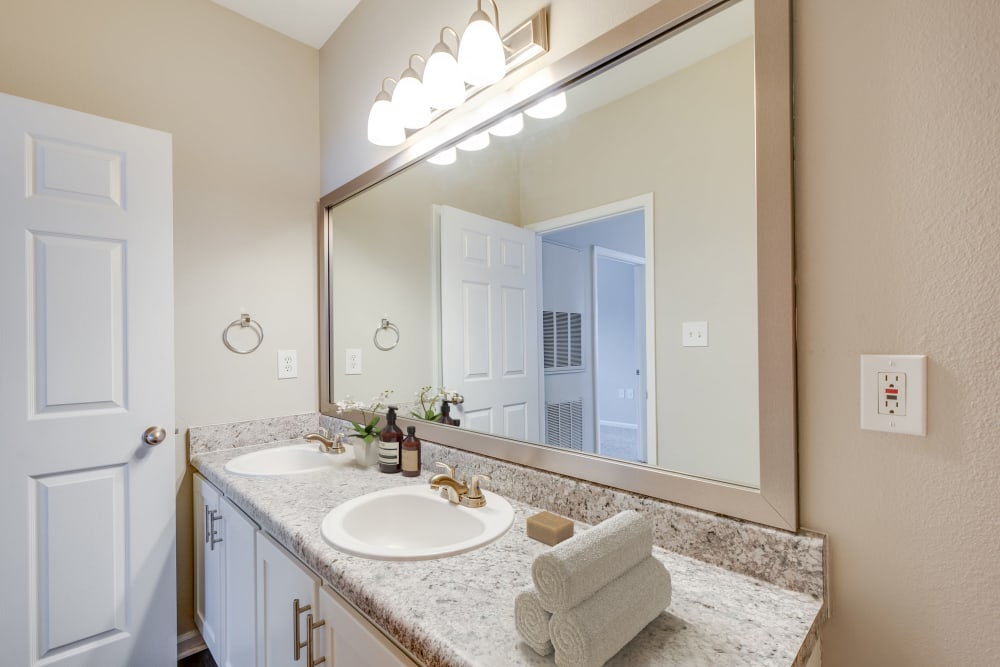 One Bedroom bathroom at Preston View in Morrisville, North Carolina