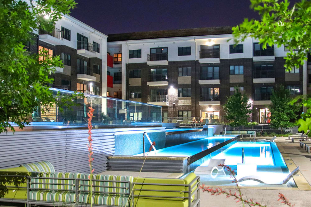 Tiered Pool | Axis 3700 Apartments Plano, TX