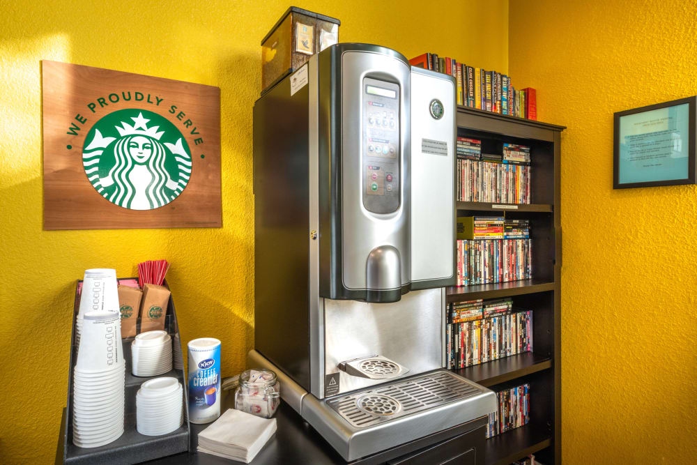 Starbucks station in the resident clubhouse at Cape House in Jacksonville, Florida