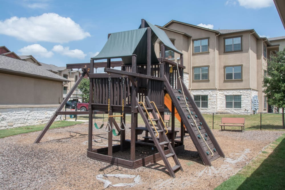 Onsite playground at Carrington Oaks in Buda, Texas