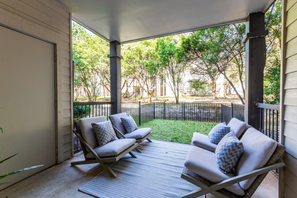 Sleek living space at Riata Austin in Austin, Texas