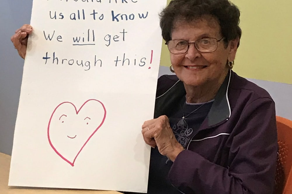 A positive message from a Clearwater resident