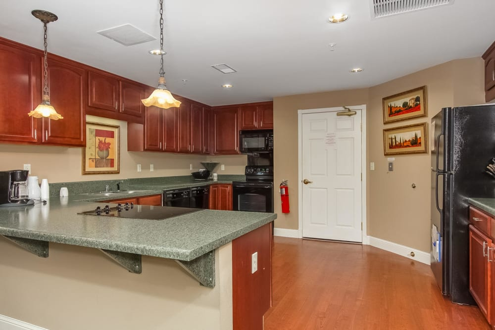 The Great Room kitchen at Applewood Pointe Bloomington in Bloomington, Minnesota.
