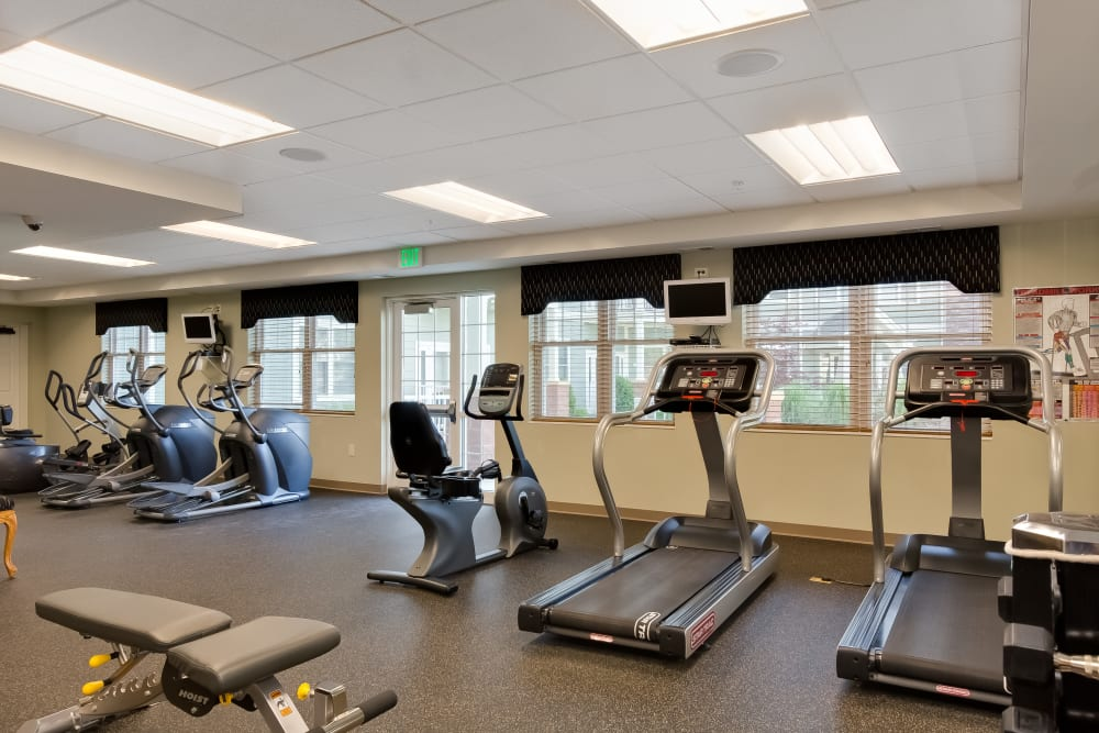A fitness center at Applewood Pointe Bloomington at Southtown in Bloomington, Minnesota.