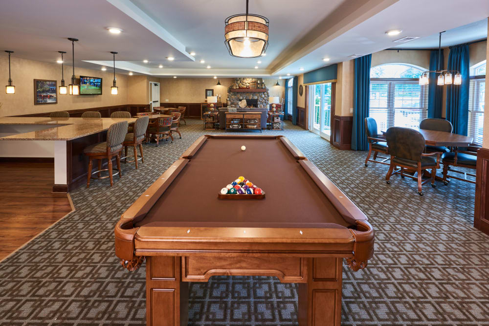 Game room at Applewood Pointe Champlin in Champlin, Minnesota.
