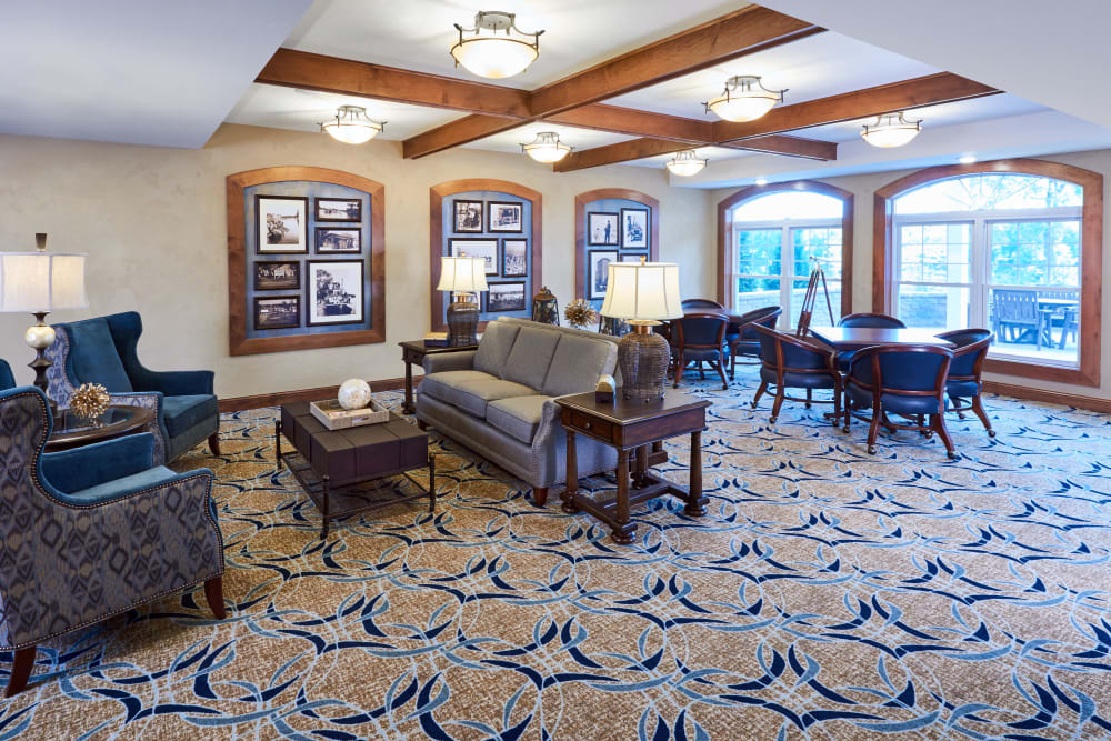 The parlor at Applewood Pointe Champlin in Champlin, Minnesota.