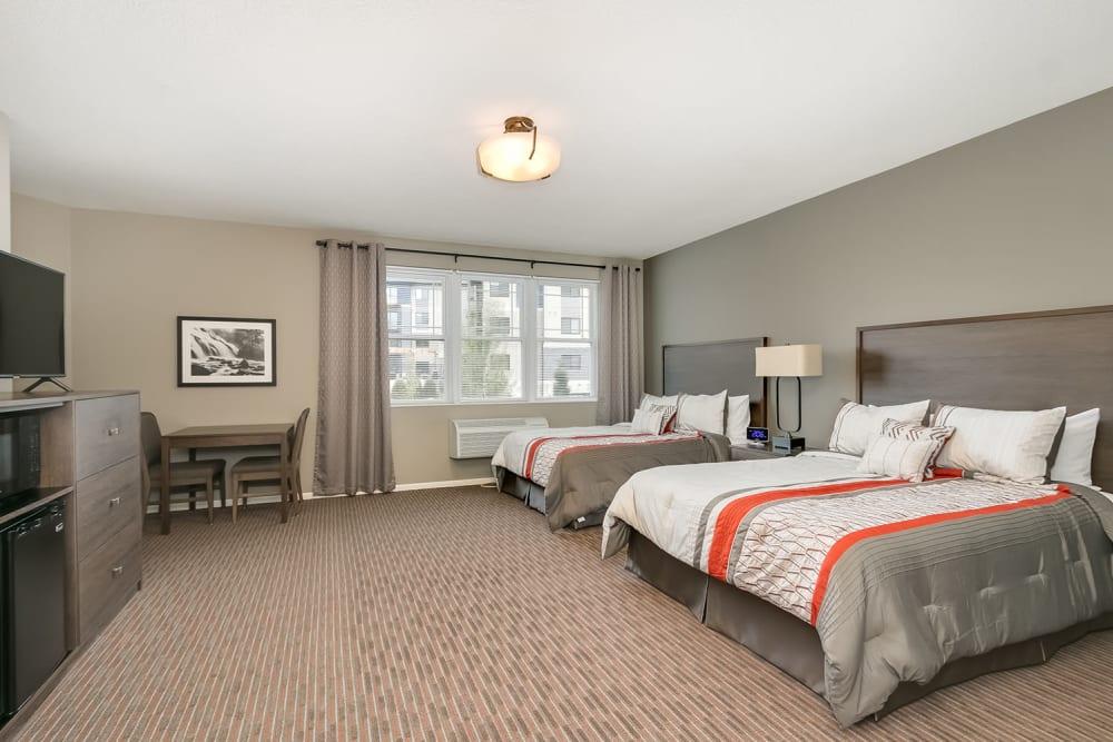 Guest room at Applewood Pointe Eagan in Eagan, Minnesota.