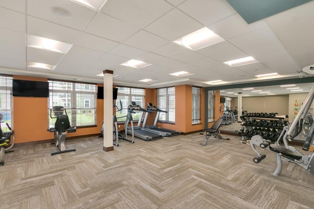 Fitness center at Applewood Pointe Eagan in Eagan, Minnesota.
