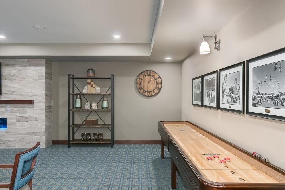 Game room at Applewood Pointe Eagan in Eagan, Minnesota.