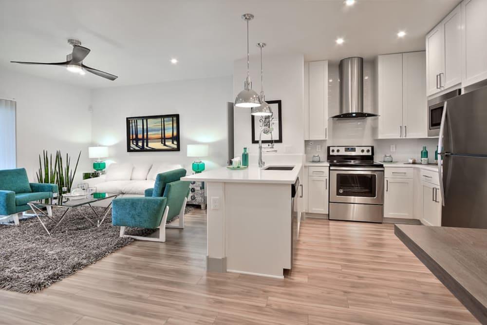 Beautiful Kitchen & Living Room at SUR702 in Las Vegas, NV