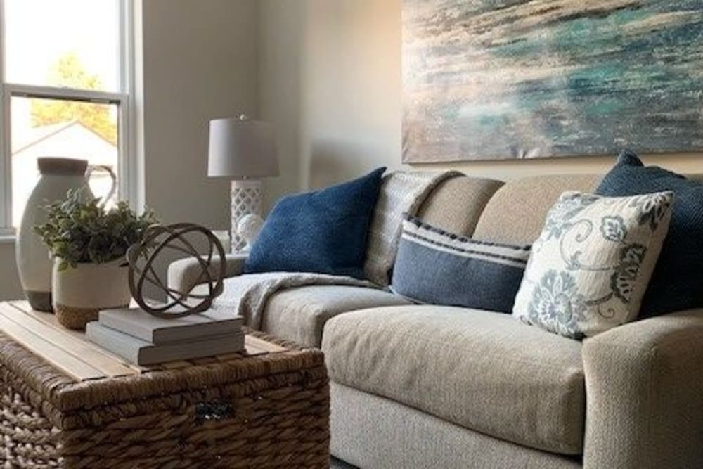 Model living room at Seven Hills Senior Living
