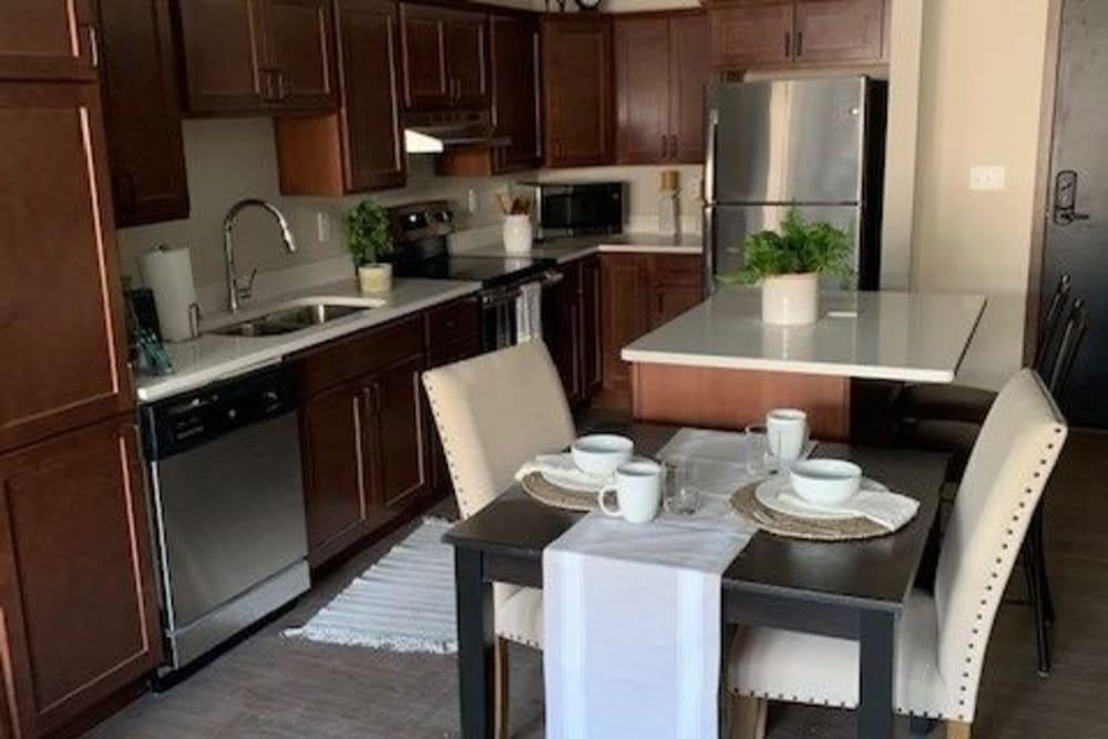 Model kitchen at Seven Hills Senior Living