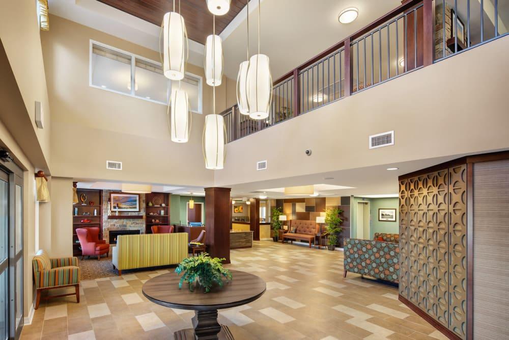 Spacious lobby at Anthology of Grayslake in Grayslake, Illinois.