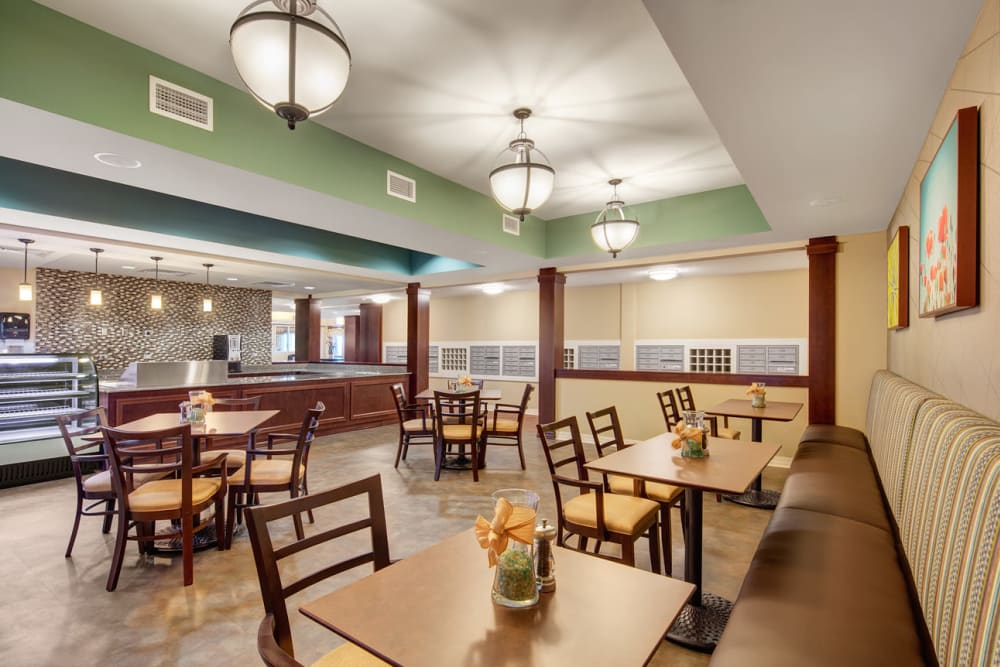 Casual resident dining at Anthology of Grayslake in Grayslake, Illinois.