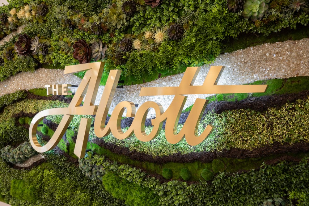Sign at The Alcott in Denver, CO