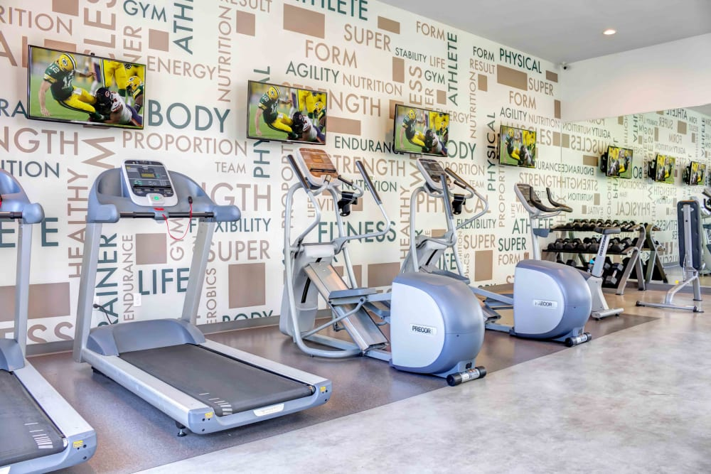 Fitness Center with TV's at Sofi Berryessa in San Jose, CA