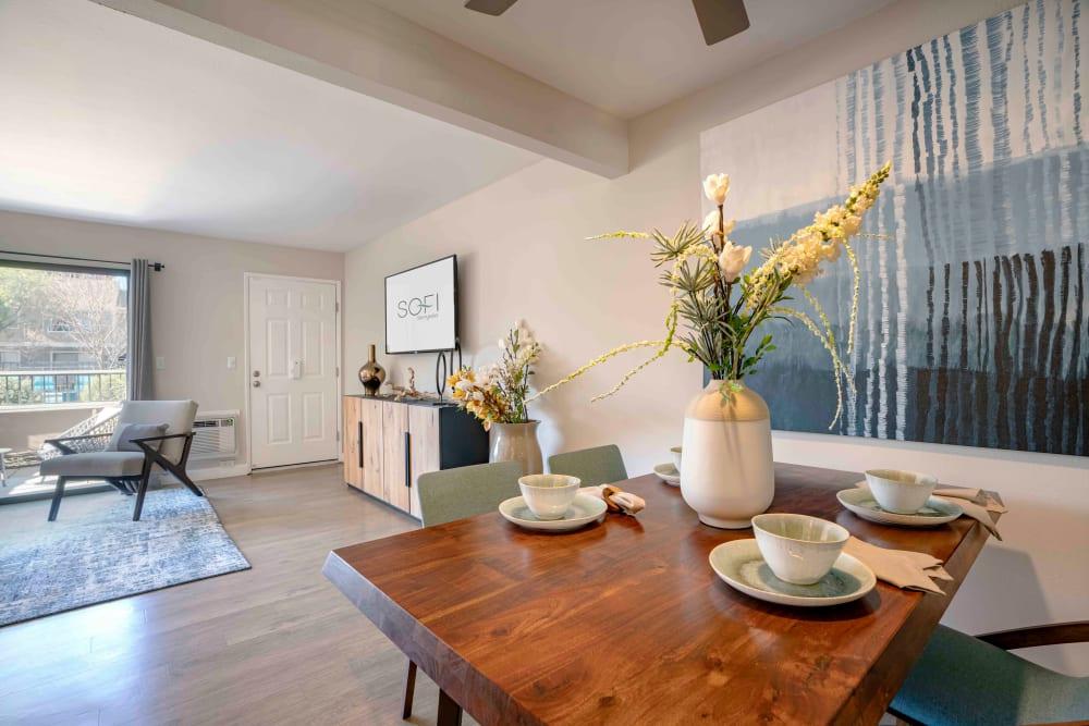 Dining Room at Sofi Berryessa in San Jose, California